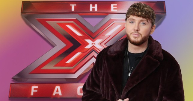James Arthur in front of the X Factor logo (Picture: Rex)