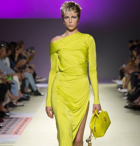 Edie Campbell on the catwalk Versace show, Runway, Spring Summer 2019, Milan Fashion Week, Italy - 21 Sep 2018Mandatory Credit: Photo by SGPITALIA/REX/Shutterstock (9889899ax)
