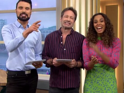 David Duchovny hijacks live TV with Rylan Clark-Neal and Rochelle Humes and he may have found a new career