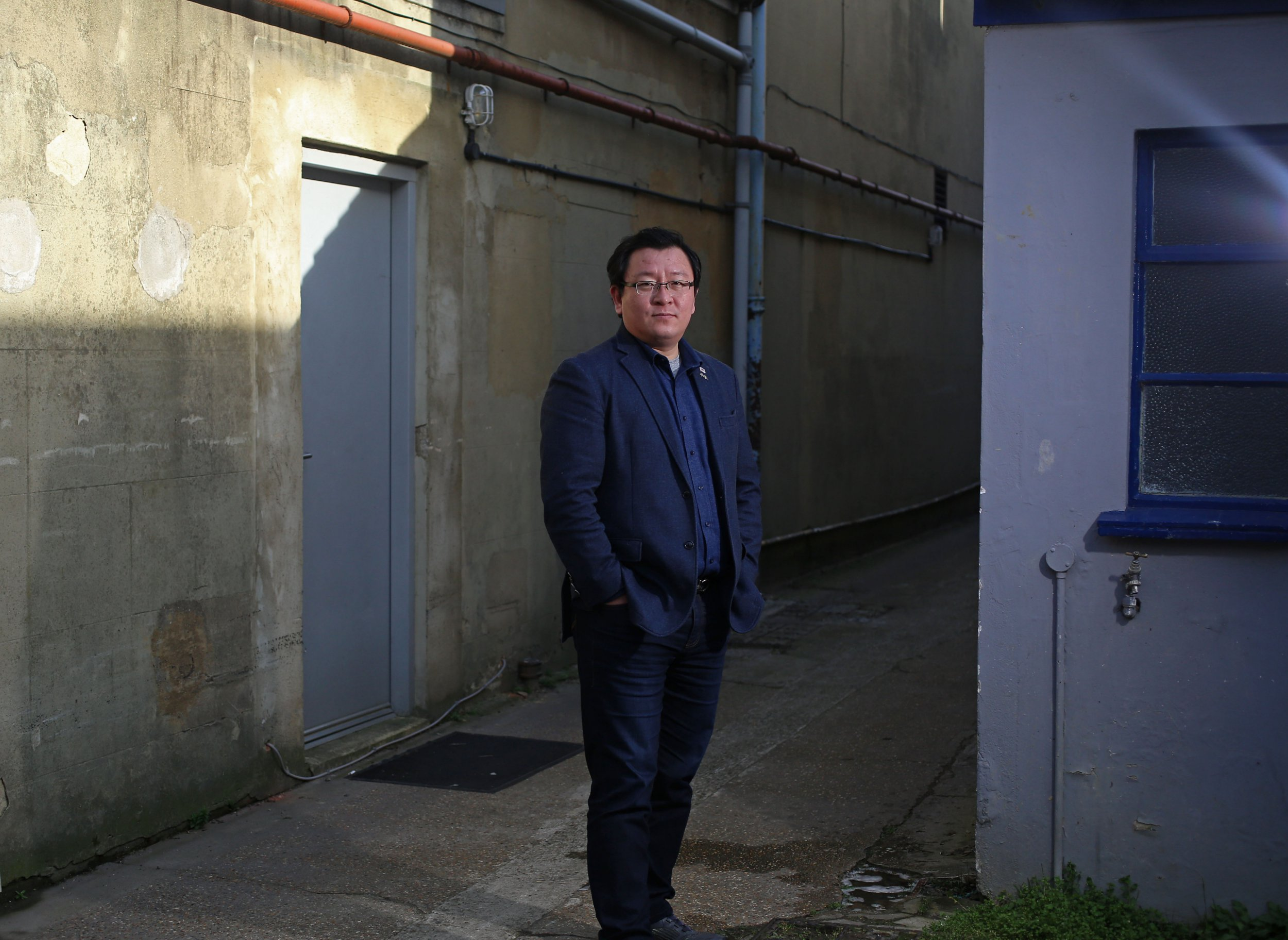 LONDON, UNITED KINGDOM, FEBRUARY 22ND 2019. GIM GYU MIN Gim Gyu Min, a defector from North Korea turned film director, pictured in London, 22nd February 2019. Gim Gyu Min now lives in South Korea with his family and has released his third film, The Gift of Love, which examines North Korean human rights violations. Photo credit: Susannah Ireland