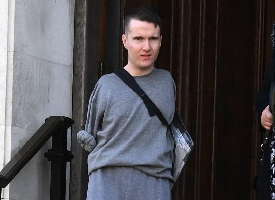 A disabled athlete with no arms stabbed his own father with scissors held between his toes. Rory O???Connor, 23, slashed out at his dad???s stomach with the scissor blade clenched between the toes of his right foot. Pictured here is Rory O???Connor outside cardiff crown court ?? WALES NEWS SERVICE