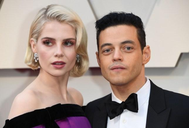 Rami Malek and girlfriend Lucy Boynton at Oscars 2019