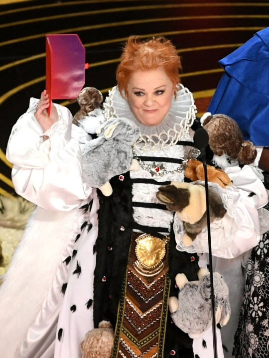 HOLLYWOOD, CALIFORNIA - FEBRUARY 24: Melissa McCarthy speaks onstage during the 91st Annual Academy Awards at Dolby Theatre on February 24, 2019 in Hollywood, California. (Photo by Kevin Winter/Getty Images)