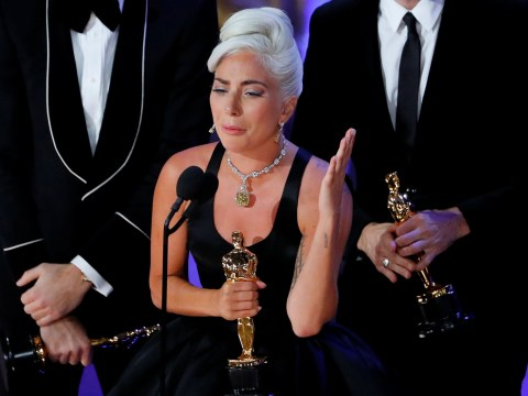 Lady Gaga sobs as she wins first Oscar for A Star Is Born's Shallow