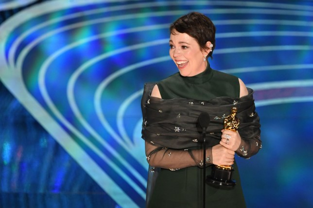 "Best Actress nominee for ""The Favourite"" Olivia Colman accepts the award for Best Actress during the 91st Annual Academy Awards at the Dolby Theatre in Hollywood, California on February 24, 2019. (Photo by VALERIE MACON / AFP)VALERIE MACON/AFP/Getty Images"