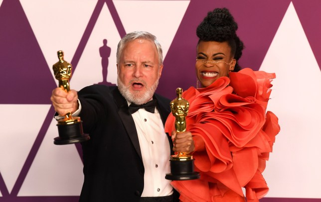 "Jay R. Hart and Hannah Beachler, winners of the Best Production Design Awards for ""Black Panther? at the 91st Annual Academy Awards (Oscars) presented by the Academy of Motion Picture Arts and Sciences. (Hollywood, CA, USA)"