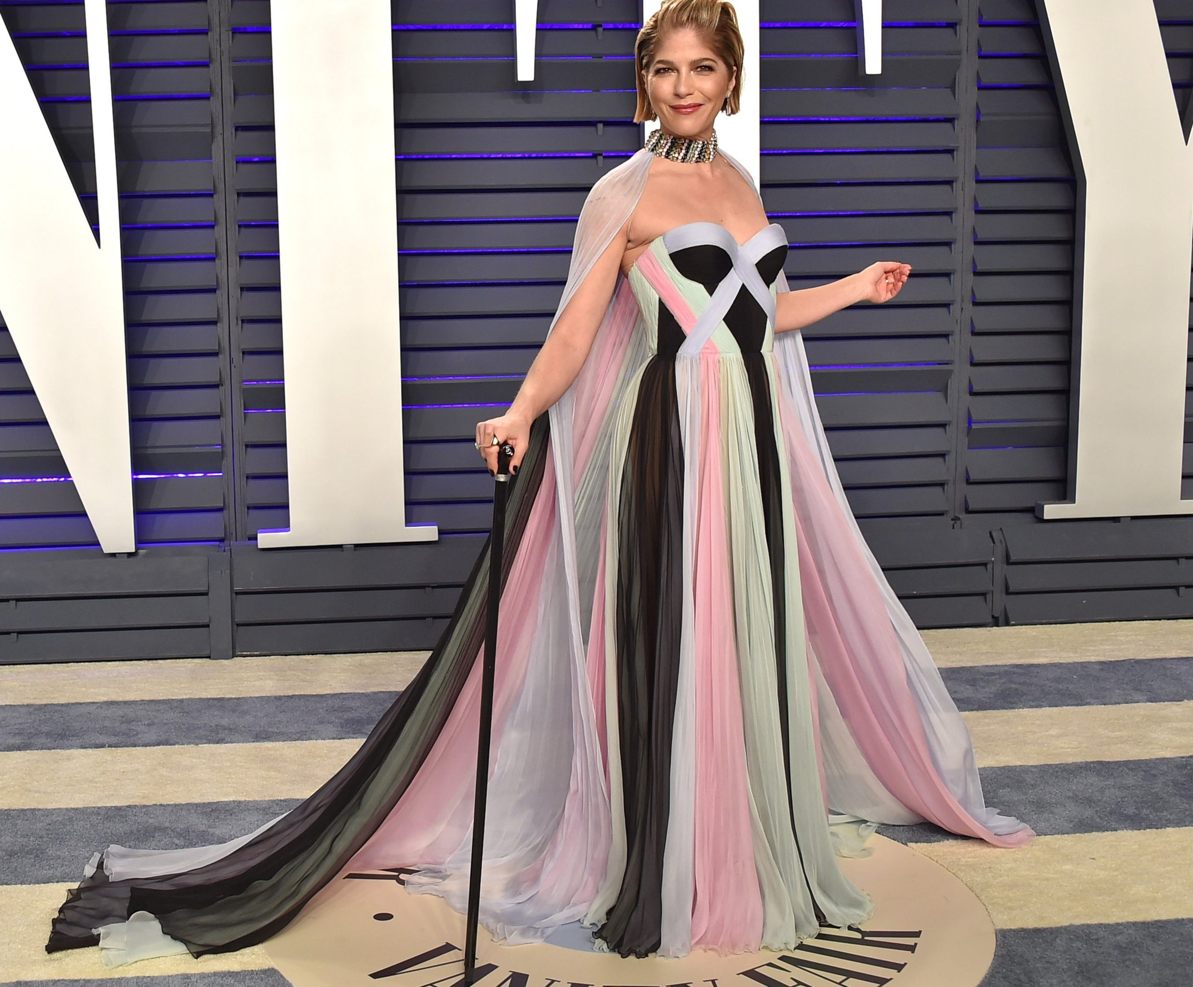 Selma Blair attending the 2019 Vanity Fair Oscar Party held at the Wallis Annenberg Center for the Performing Arts in Beverly Hills, California