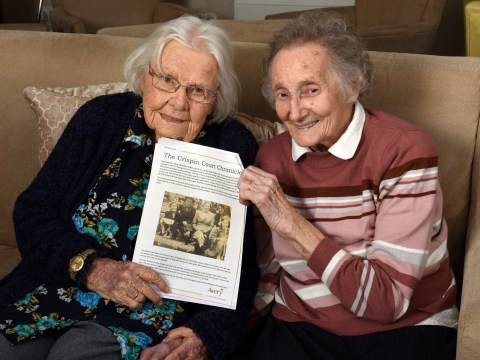 Two childhood best friends rekindle their relationship in care home after 70 years apart