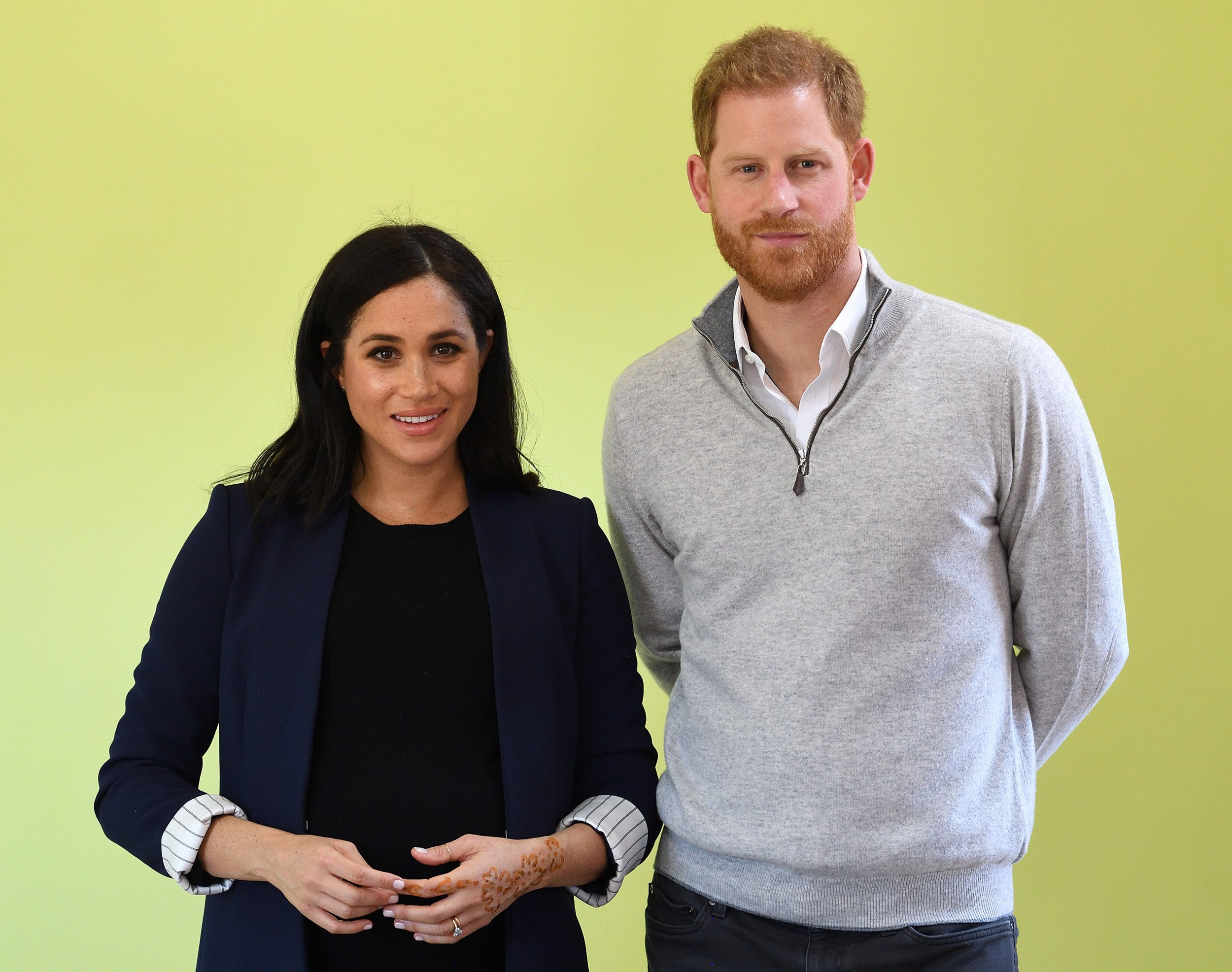 ASNI, MOROCCO - FEBRUARY 24: (UK OUT FOR 28 DAYS) Prince Harry, Duke of Sussex and Meghan, Duchess of Sussex visit a local secondary school meeting students and teachers on February 24, 2019 in Asni, Morocco. (Photo by Pool/Samir Hussein/WireImage)