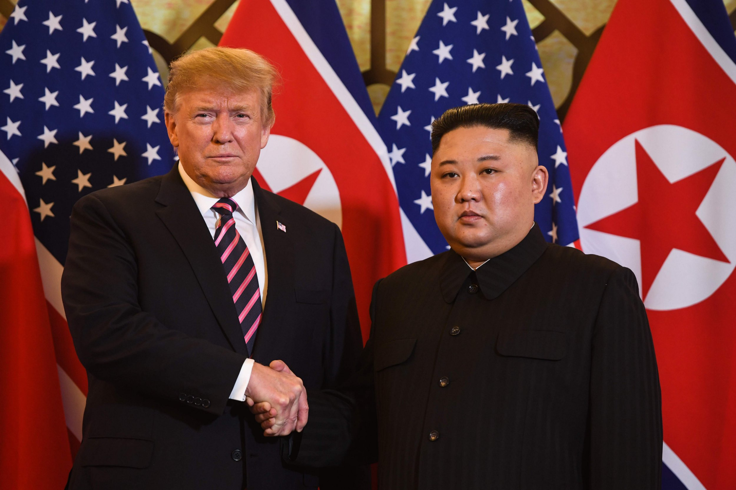 Donald Trump and Kim Jong-un meet face-to-face for second time