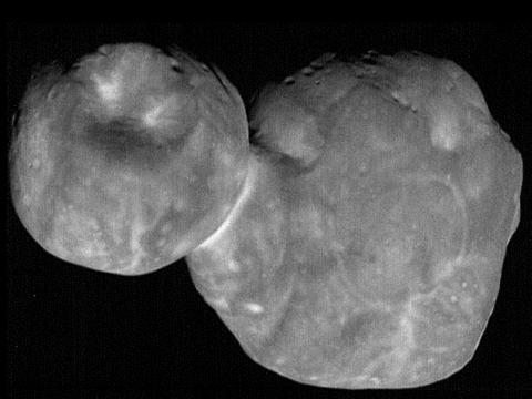 Nasa reveals new picture of 'Nazi dwarf planet' Ultima Thule – and it looks like someone punched it