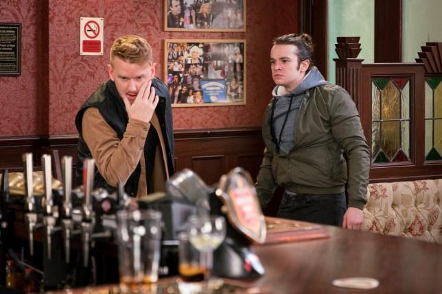 Seb hits Gary in Coronation Street