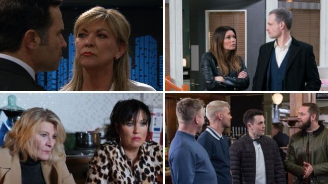12 soap spoiler pictures: Kim Tate Emmerdale return, Coronation Street terror for Carla, EastEnders cheating devastation, Hollyoaks far-right attack