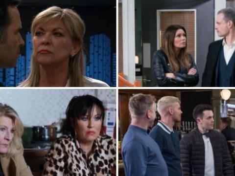 12 soap spoiler pictures: Kim Tate Emmerdale return, Coronation Street terror for Carla, EastEnders cheating devastation, Hollyoaks far-right attack