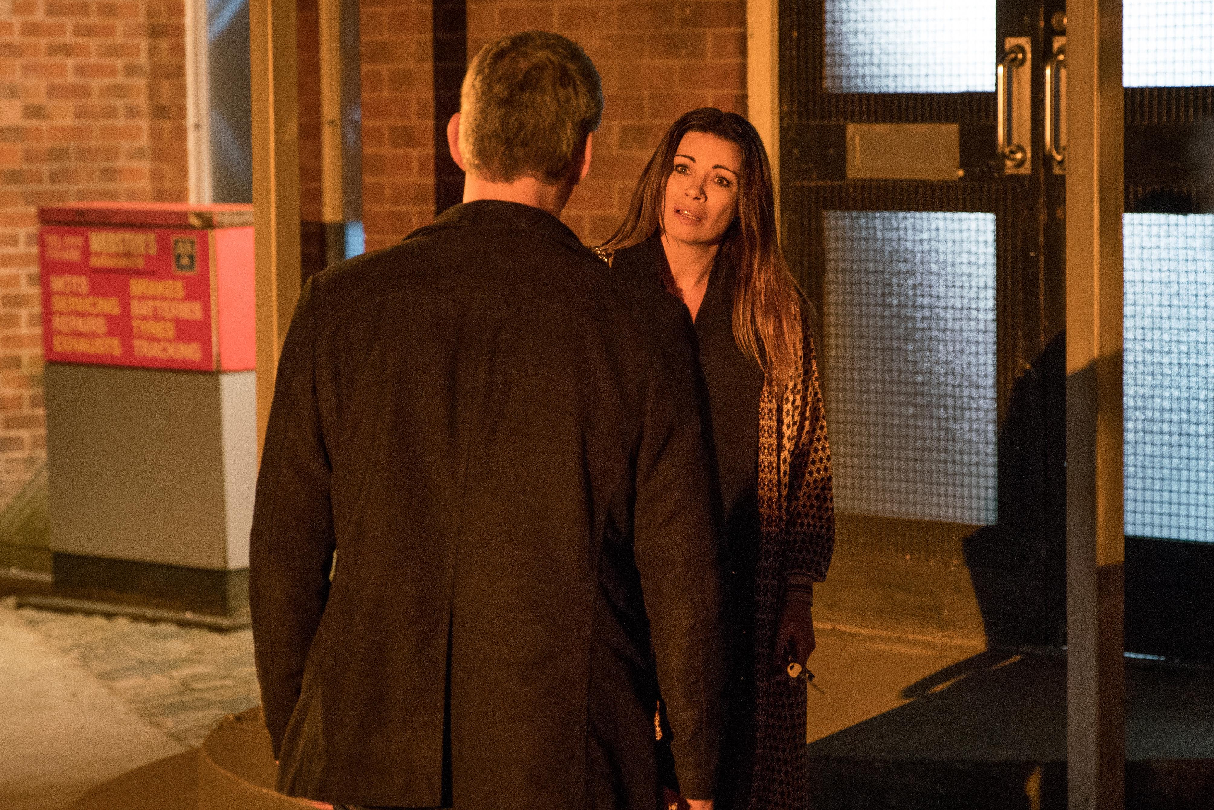 Robert confronts Carla in Coronation Street