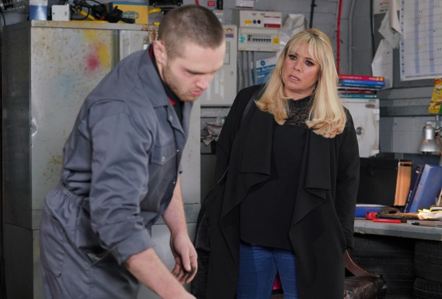 Sharon confronts Keanu in EastEnders