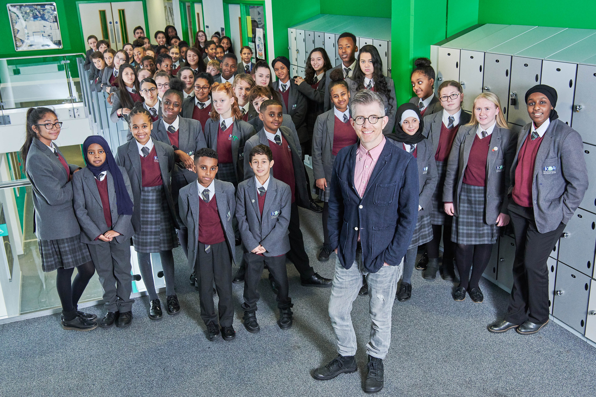 Gareth Malone and the students in The Choir: Our School By The Tower