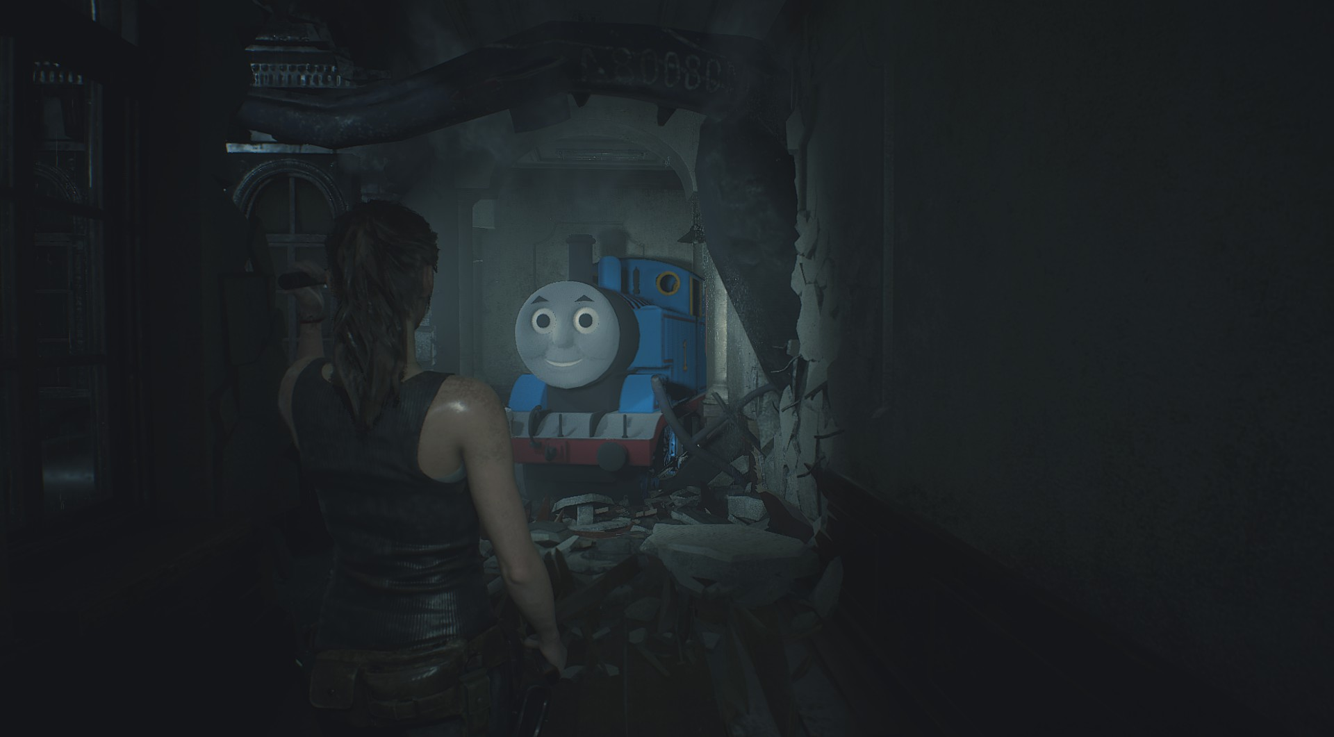 Thomas the Tank Engine invades Resident Evil 2 in latest mod