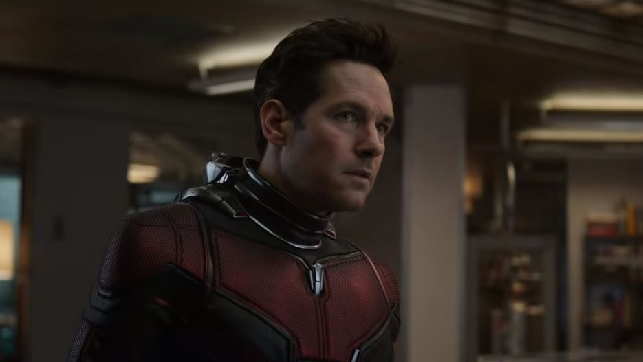 There's an explosion behind Ant-Man - hinting Marvel HQ is going down (Picture: Marvel)