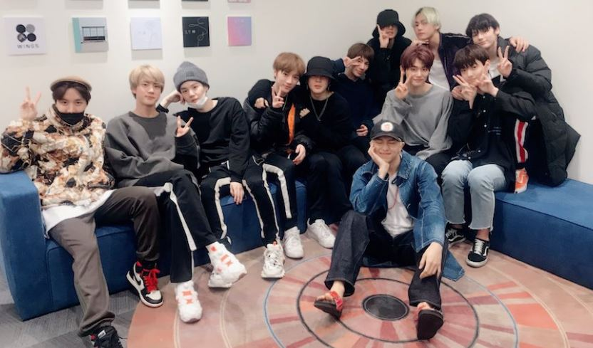 BTS and TXT together