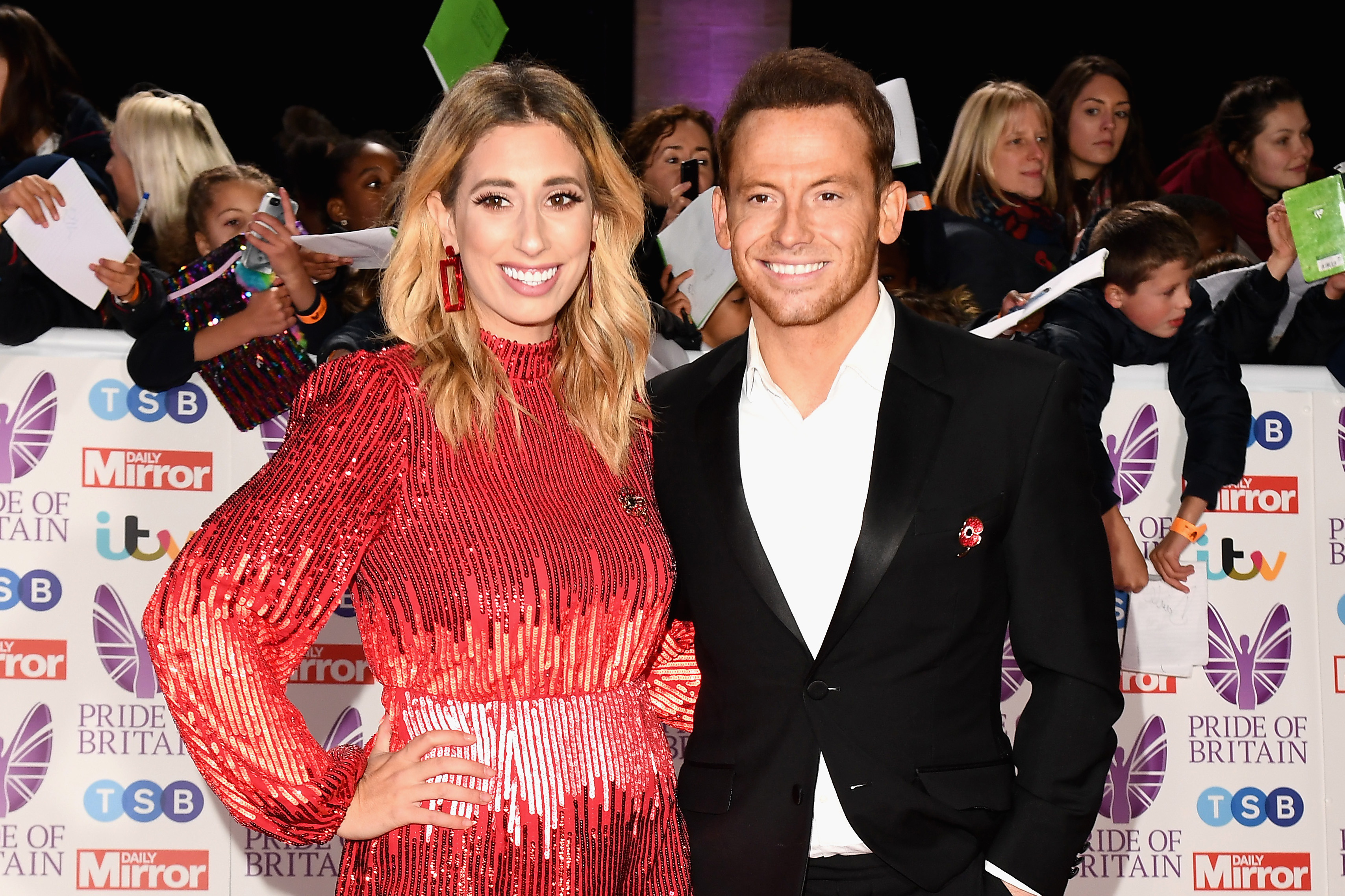 Stacey Solomon shares adorable pictures of sons meeting her new baby boy