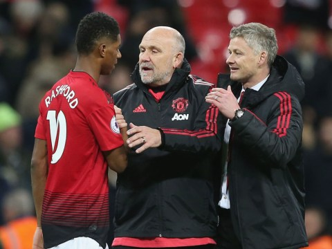 Man Utd coach Mike Phelan teases Marcus Rashford over last minute winner against PSG
