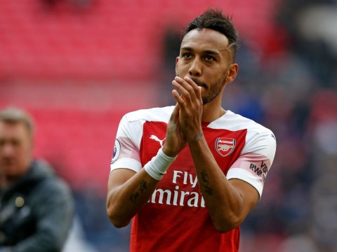 Pierre-Emerick Aubameyang vows to 'keep his head up' after north London derby penalty miss