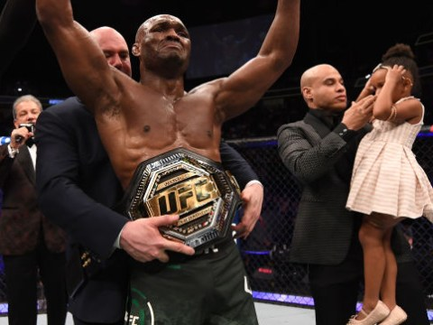 New UFC champion Kamaru Usman smashed Tyron Woodley on a fractured foot