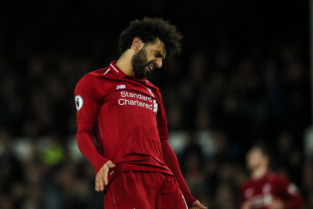 Liverpool hand Premier League title initiative to Manchester City as Mohamed Salah blanks in Everton draw