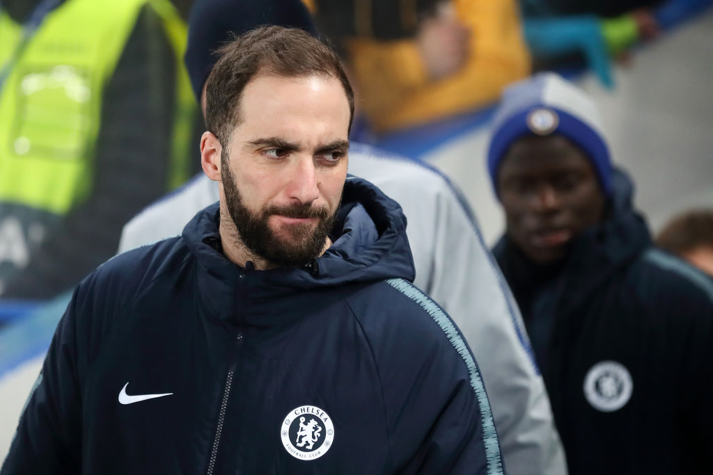 Why Gonzalo Higuain was left out of Chelsea's Europa League squad for Dynamo Kiev clash