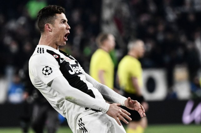 26744ee86 Cristiano Ronaldo trolls Diego Simeone by copying his balls celebration  after Juventus comeback