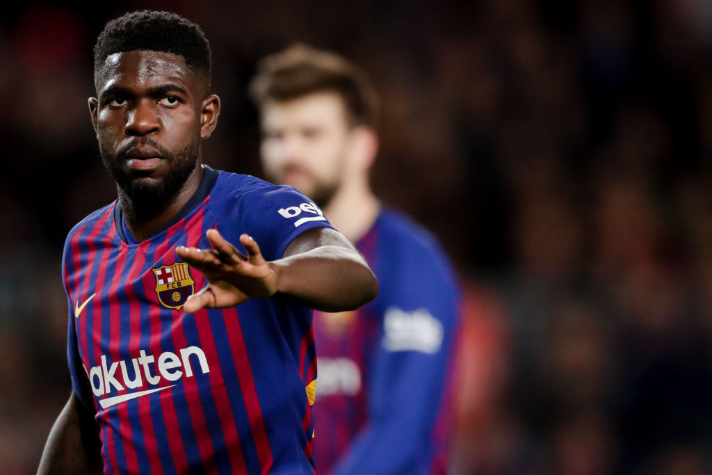 Arsenal & Manchester United target Samuel Umtiti might seek transfer if he continues as substitute