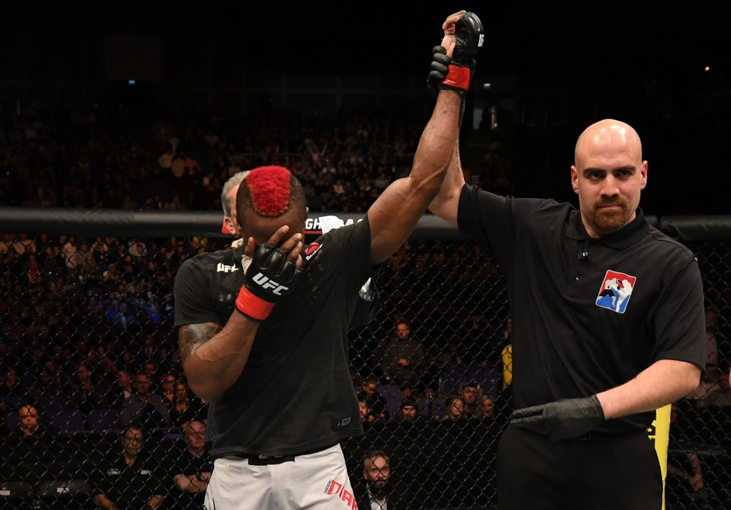 Marc Diakiese breaks down in tears after victory at UFC London