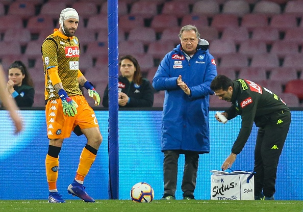Arsenal goalkeeper David Ospina taken to hospital after sustaining serious head injury for Napoli against Udinese