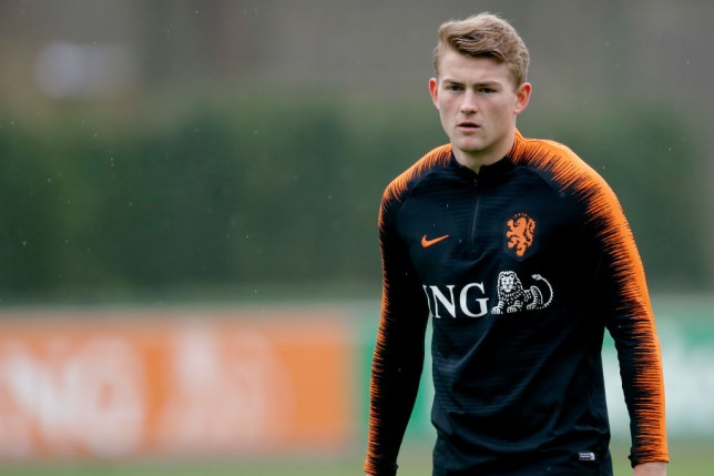 13a096362 Arsenal are tracking De Ligt (Picture  Getty). Matthijs de Ligt only wants  to move to Barcelona ...
