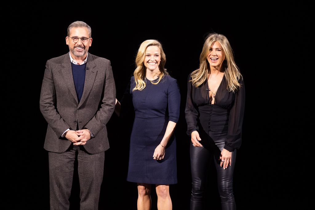 Jennifer Aniston and Reese Witherspoon tease 'thrill ride' Apple series The Morning Show