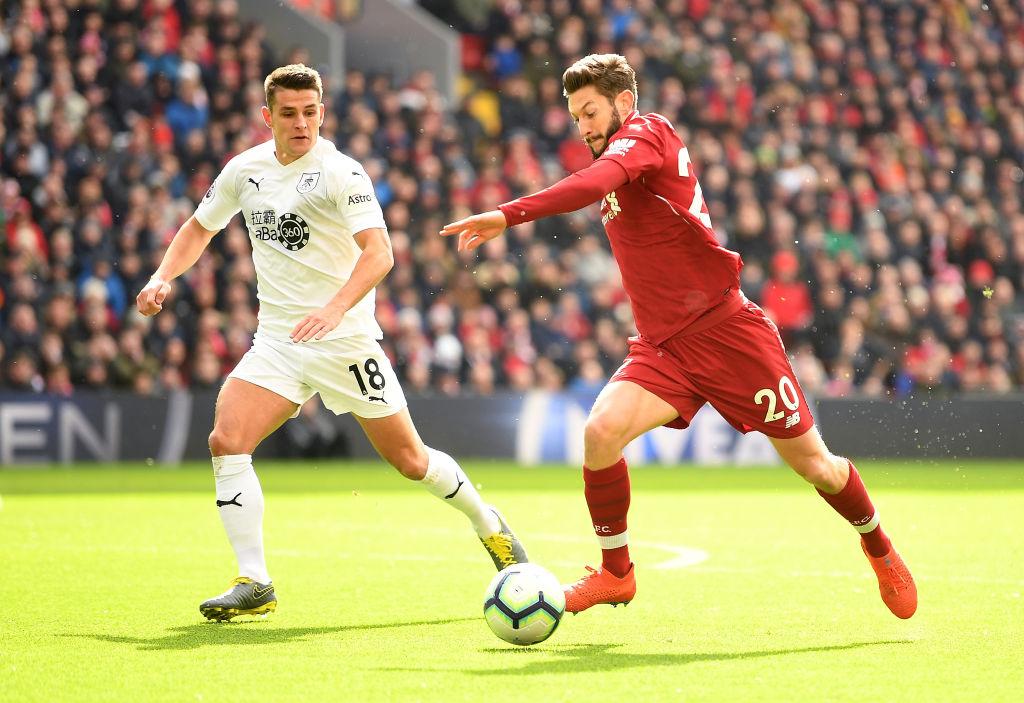 Jurgen Klopp singles out 'outstanding' Adam Lallana for praise after Liverpool beat Burnley
