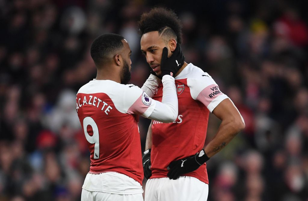 Ian Wright reacts to 'beautiful' Alexandre Lacazette and Pierre-Emerick Aubameyang behaviour