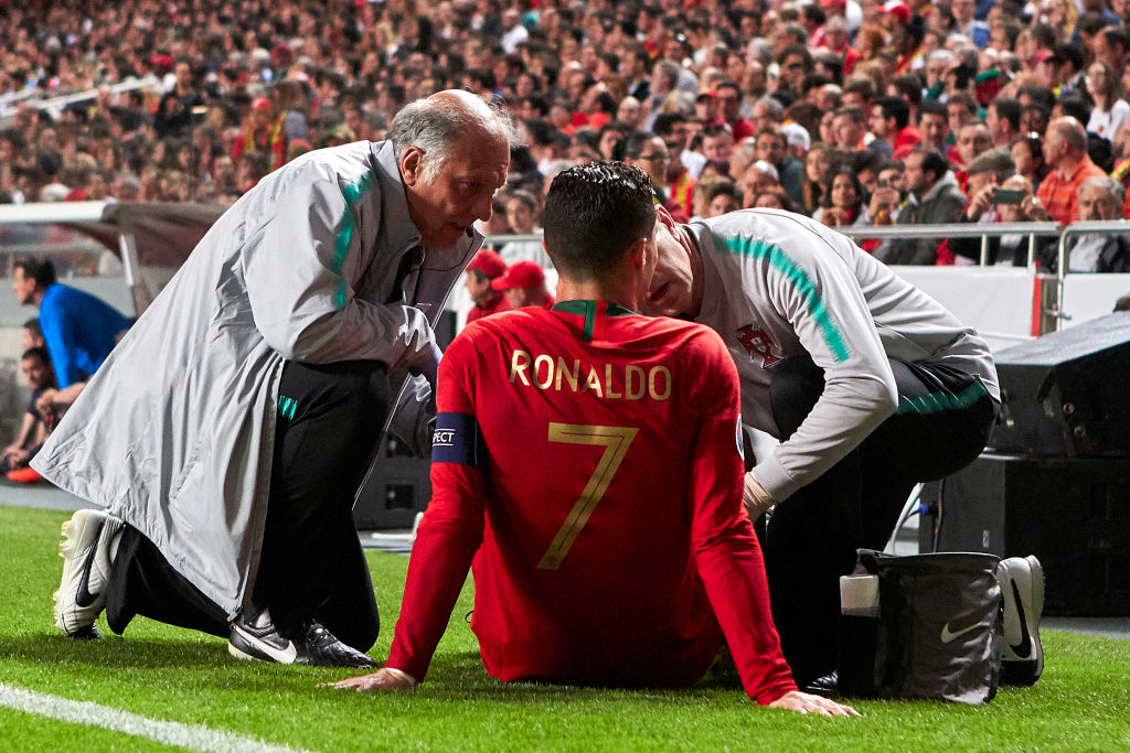 Cristiano Ronaldo provides injury update after limping out of Portugal's draw with Serbia