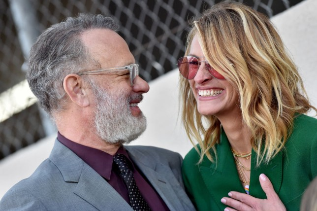 75d26a547456b Julia Roberts jokes Tom Hanks is  super-hot  while honouring his wife Rita  Wilson s Hollywood star