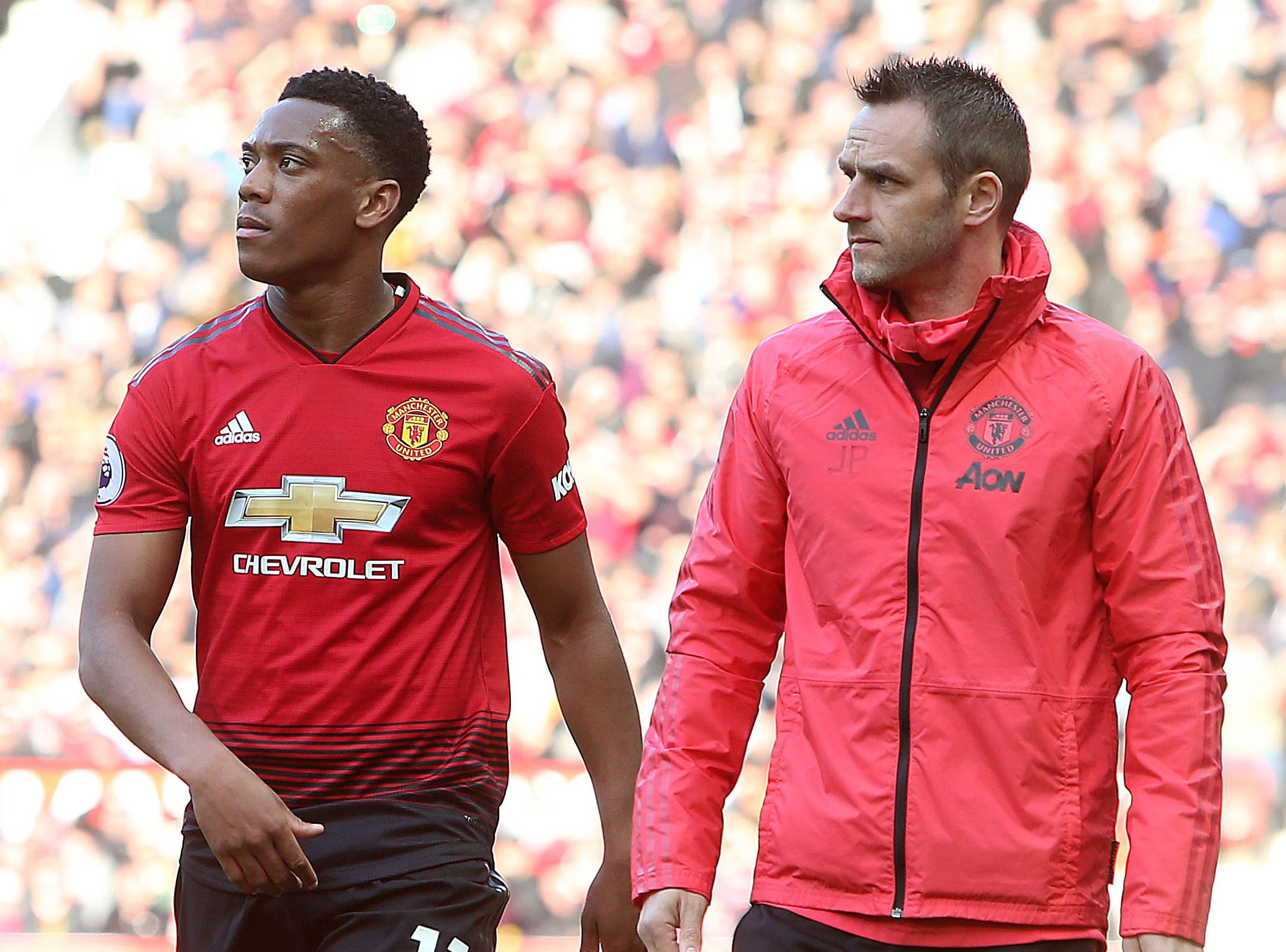 Ole Gunnar Solskjaer rates Anthony Martial's chances of facing Wolves after injury against Watford