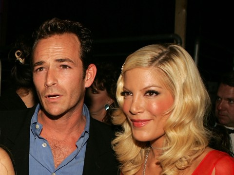 Tori Spelling 'heartbroken' as she joins 90210 family in paying tribute to Luke Perry