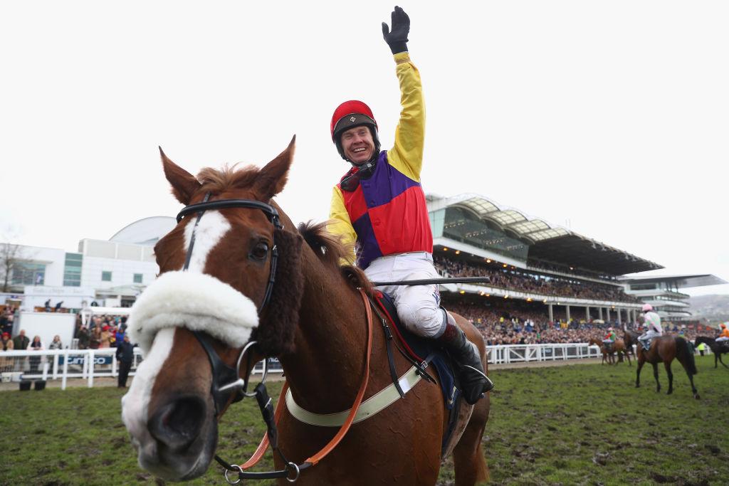 Richard Johnson riding horse Native River at Cheltenham Festival 2019