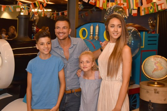 Peter Andre with wife Emily Macdonagh and children Junior and Princess