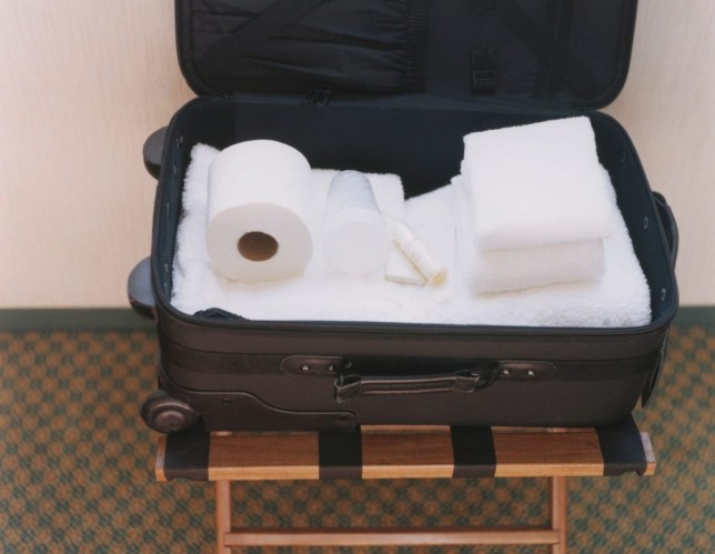 Toiletries in Suitcase