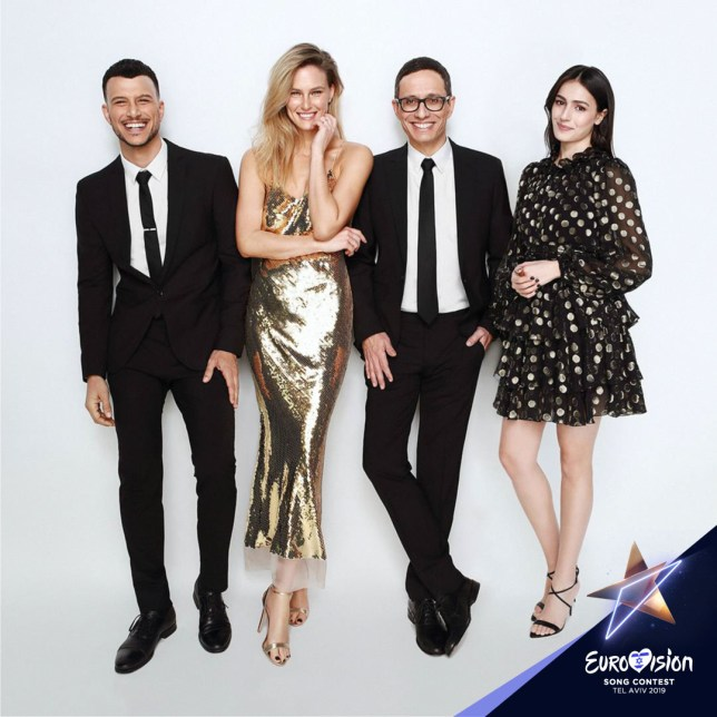 Eurovision hosts