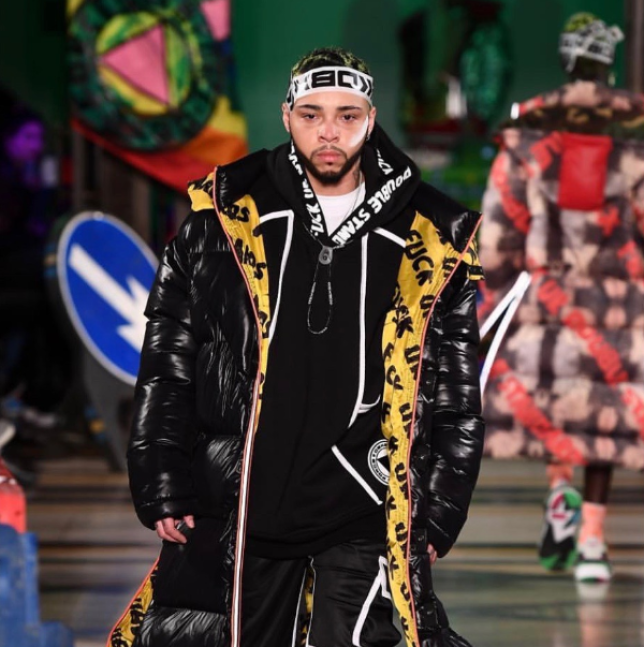 Kenny Ethan Jones walks for DB Berdan at LFW19