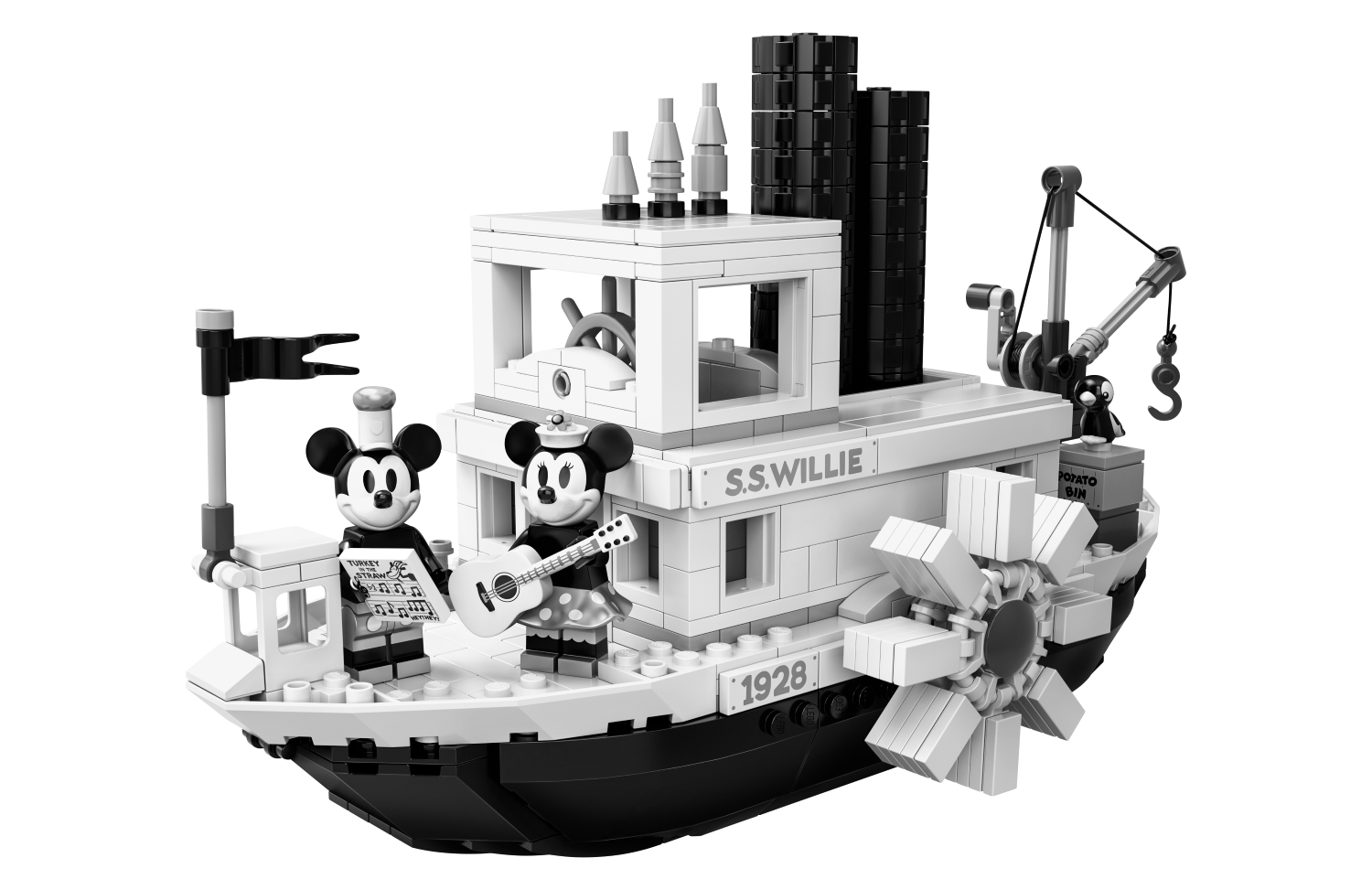 Lego embraces Disney retro with Steamboat Willie fan-designed set