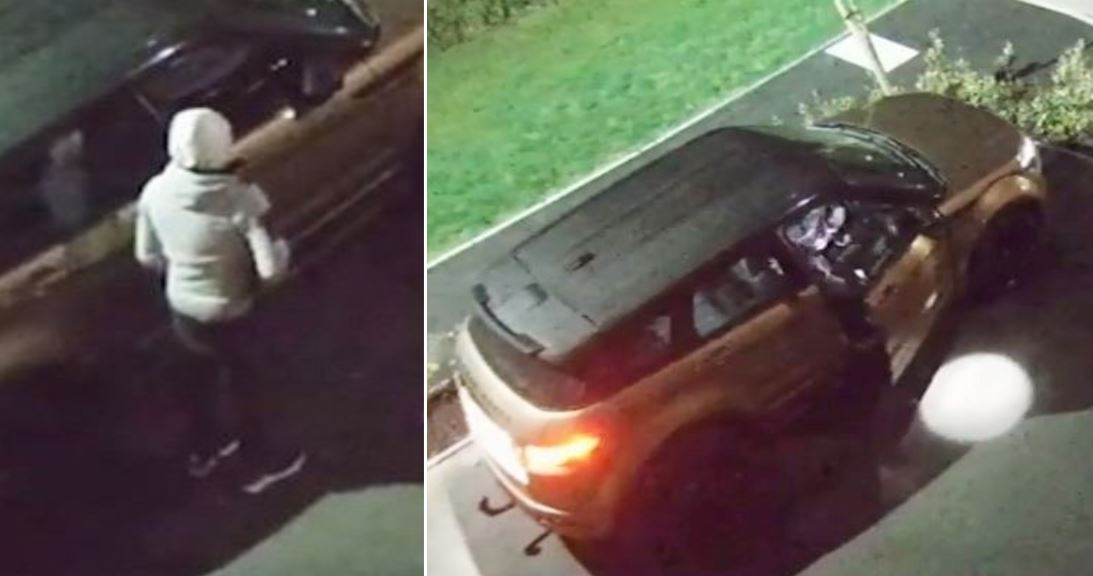 Moment £24,000 Range Rover was stolen in just 20 seconds