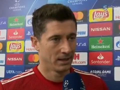Robert Lewandowski slams Bayern Munich's tactics after Champions League defeat to Liverpool